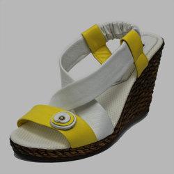 Босоножки (121 yellow white)